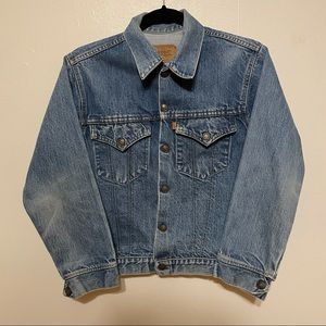 Levi's Denim Jacket Kids Orange Tab 70705